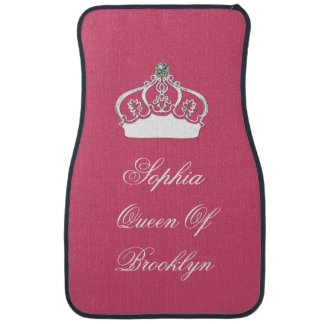Funny Queen Monogram Car Mats Set