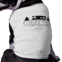 Funny Queen of RV Dog   Cute Camping RVer RVing T-Shirt
