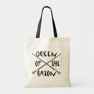 Funny Queen of the Baton Conductor Gift Budget Tote Bag
