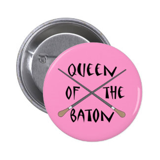 Funny Queen of the Baton Conductor Gift Pinback Button