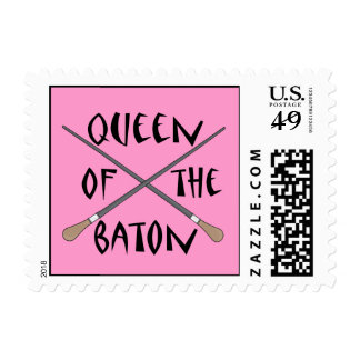 Funny Queen of the Baton Conductor Gift Postage