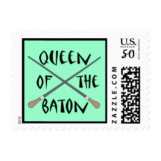 Funny Queen of the Baton Conductor Stamps Gift