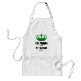 Funny Queen of the Kitchen Crown Custom Name 4D Adult Apron