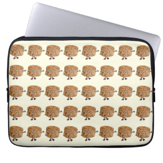 Funny Quirky Chocolate Cake Watercolour Art Design Laptop Sleeve