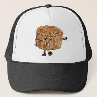 Funny Quirky Chocolate Cake Watercolour Art Design Trucker Hat