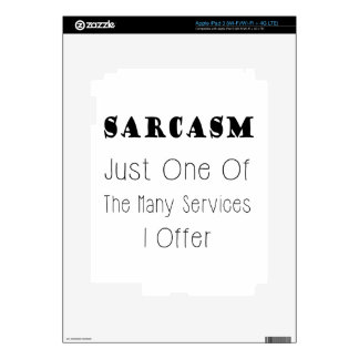 Funny Quote About Sarcasm, Humorous Quotes Skins For iPad 3