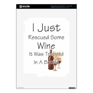 Funny Quote About Wine, Drinking Skin For iPad 3