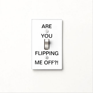 Funny Quote | Black and White Light Switch Cover