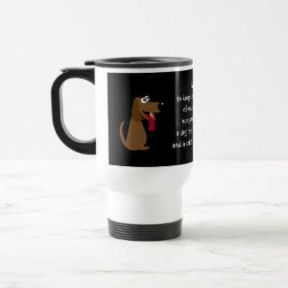 Funny Quote Cartoon Cat  & Dog Custom Charity 15 Oz Stainless Steel Travel Mug