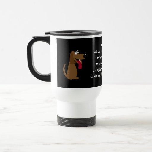 Funny Quote Cartoon Cat  & Dog Custom Charity Coffee Mug