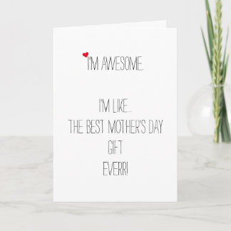 Funny Quote Custom Mothers Day Birthday Christmas Holiday Card