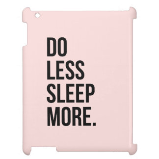 Funny Quote Do Less Anti Inspirational Pink iPad Covers