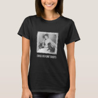 Funny Quote Dogs Before Dudes Vintage Art Womens T-Shirt