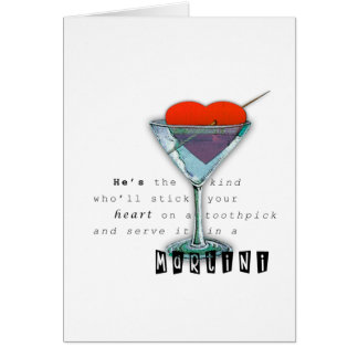 Funny Quote Martini Glass Greeting Card