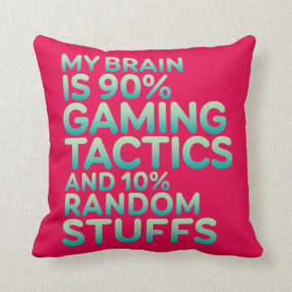 Funny Quote Pillow for Video Games Geek and Gamer