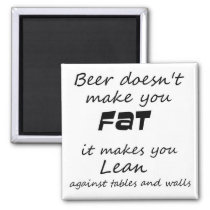Funny quote refrigerator magnets beer joke novelty