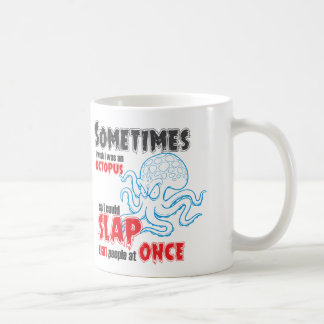 funny quote, slap 8 people at once coffee mug