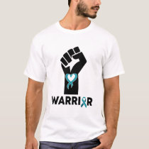 Funny Quote Warriors Fist Ribbon Awareness Gifts T-Shirt