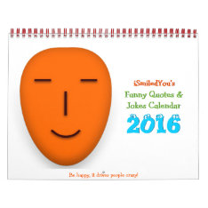 Funny Quotes And Jokes Desk Wall Calendar 2016 at Zazzle