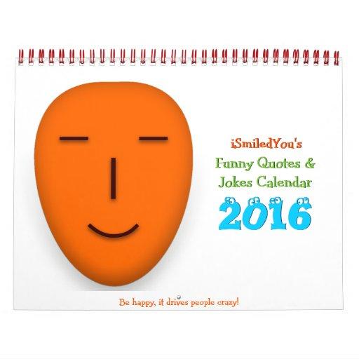 Funny Quotes and Jokes Desk Wall Calendar 2016 | Zazzle