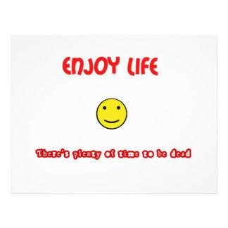 "Funny quotes Enjoy life 8.5"" X 11"" Flyer"
