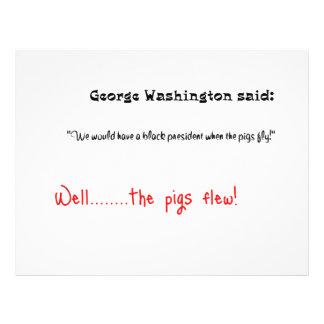 "Funny quotes George Washington said 8.5"" X 11"" Flyer"