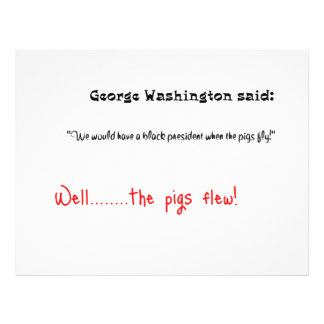 Funny quotes George Washington said Flyer
