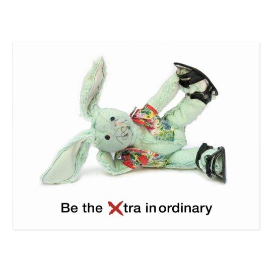 Funny Rabbit Birthday Card Be EXtraordinary Postcard