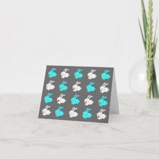 Funny Rabbit Eating Blank Card 3 card