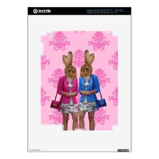 Funny rabbit girls going shopping iPad 3 skin