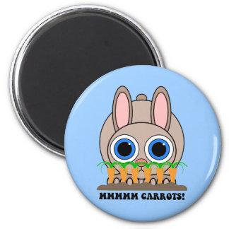 funny rabbit magnet