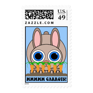 funny rabbit postage stamps