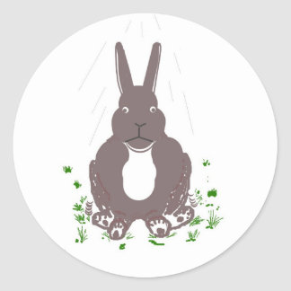 Funny rabbit stickers