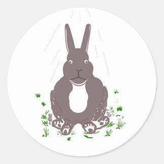 Funny rabbit stickers