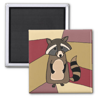 Funny Raccoon Art Design Refrigerator Magnet