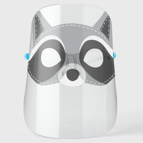 Funny Raccoon Face Cute Forest Animal Face Shield