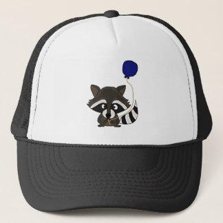 Funny Raccoon Holding Balloon Trucker Hat