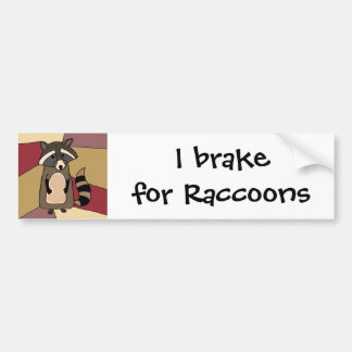 Funny Raccoon Original Art Design Bumper Sticker