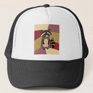 Funny Raccoon Original Art Design Trucker Hat