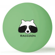 Funny raccoon ping pong balls for table tennis