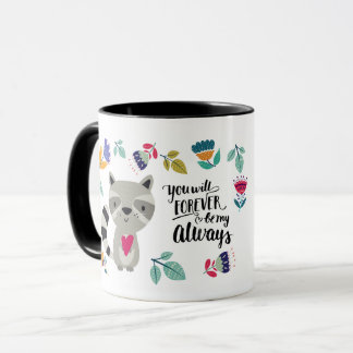 Funny Raccoon Valentine's Day Gift Mugs