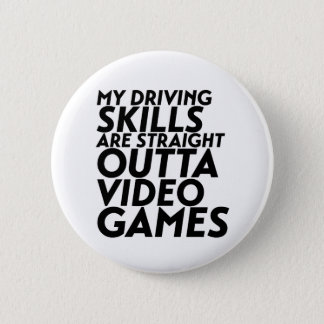 Funny Racing Car Video Games for Nerd Geek Gamer Pinback Button