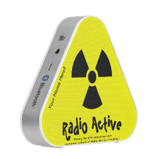 Funny Radio Active (radioactive) Warning Sign Bluetooth Speaker