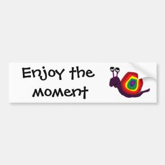 Funny Rainbow Art Snail Bumper Sticker