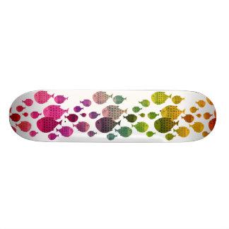 funny rainbow fish skateboard