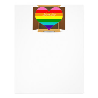 Funny Rainbow Heart LGBT coming out of the closet Letterhead