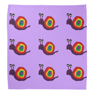 Funny Rainbow Snail Art Bandana