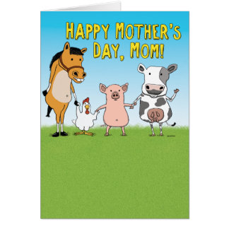 Funny Raised in a Barn Mother's Day Card