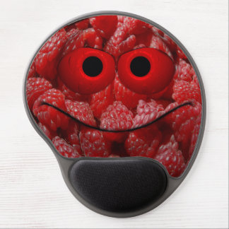 Funny Raspberry Emoticon Gel Mouse Pad