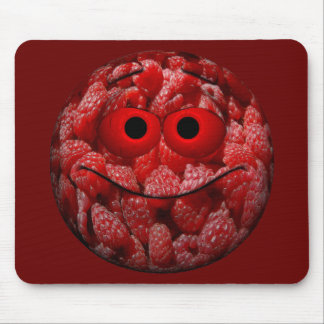 Funny Raspberry Emoticon Mouse Pad